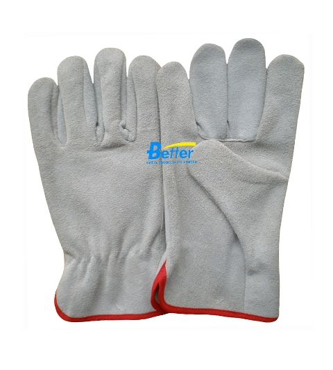 Competitive Cow Split Leather Driver Gloves (BGCD201)