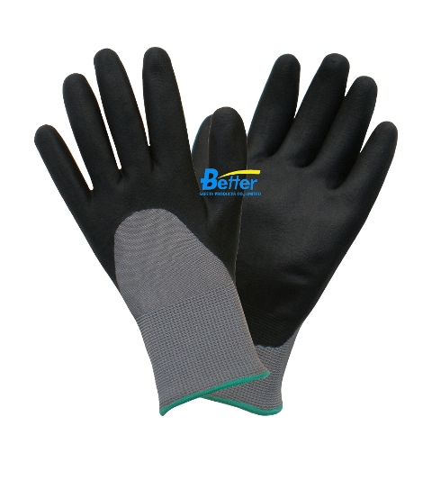Dexterity Black 3/4 Foam-Nitrile-Dipped Work Gloves(BGNC305)