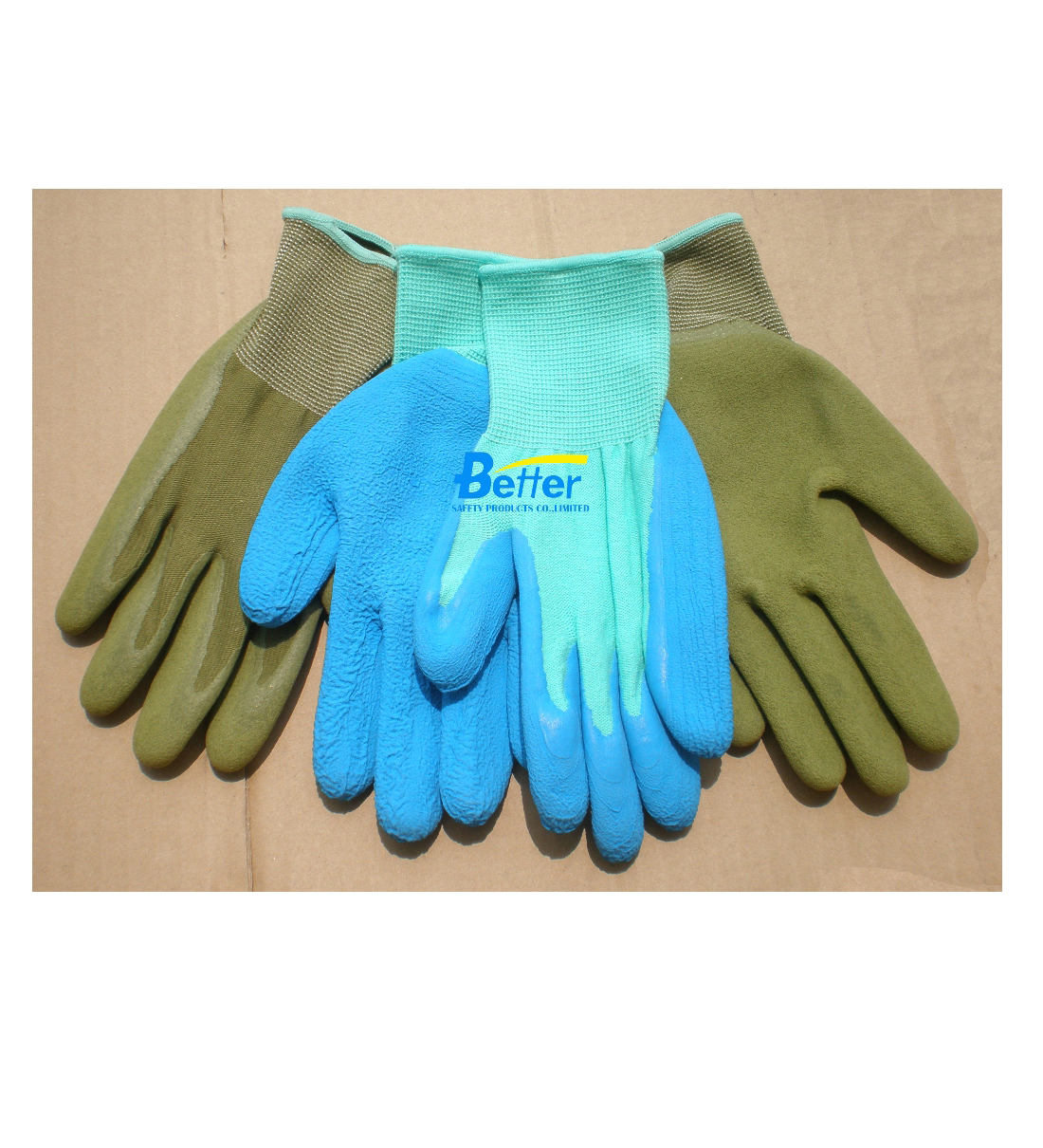Super Cool Feeling Bamboo Green Gloves-Latex Palm Coated(BGLC503)