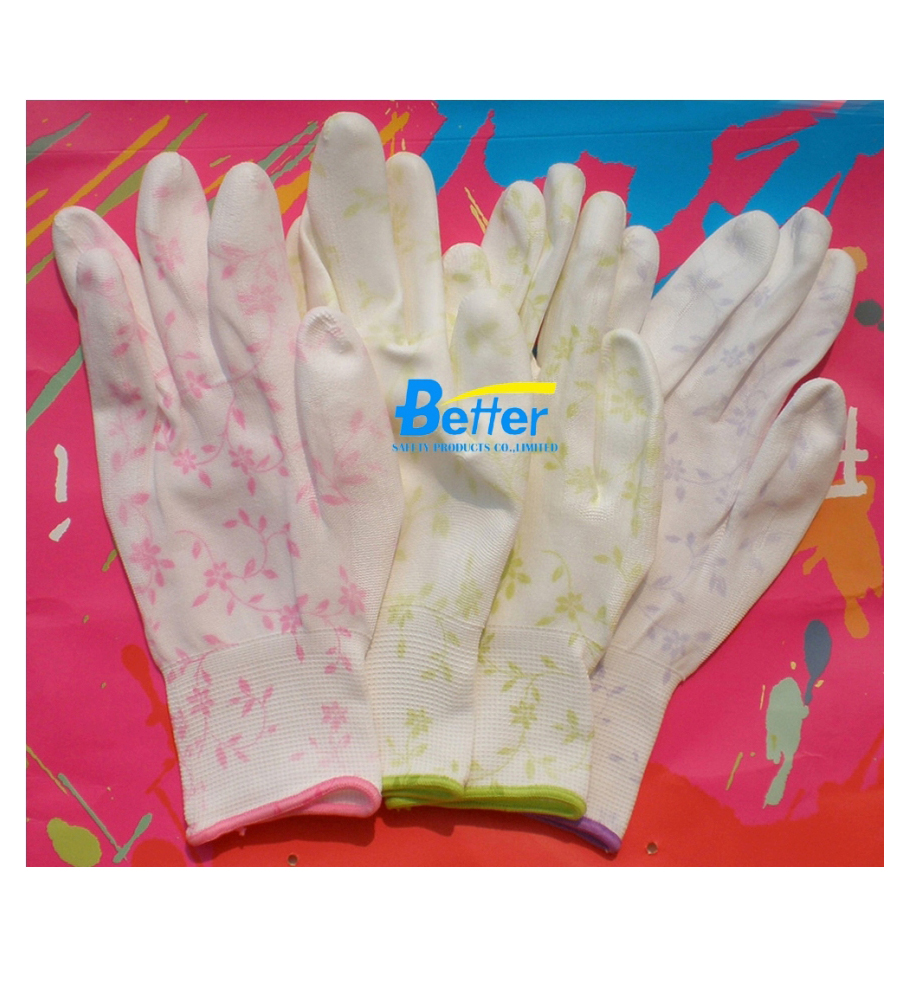 Women Style Superior Touch PU Palm Coated Working Gloves(BGPU205)