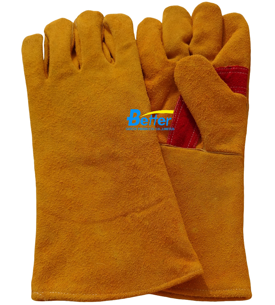 Competitive Golden Cow Split Leather Welding Gloves(BGCW210)