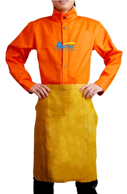 BWP-6024-Super Strong Golden Split Cowhide Leather Waist Welder Apron