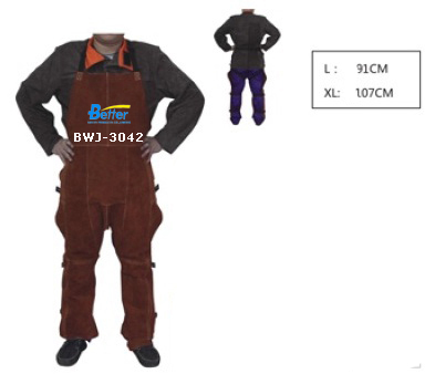 BWJ-3042-Excellent Competitive Split Cowhide Leather Welding Chaps