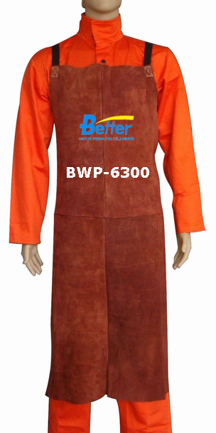 BWP-6300-Super Strong Coffee Split Cowhide Leather Welding Apron