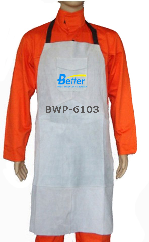BWP-6103-Super Strong Natural Split Cowhide Leather Welding Apron