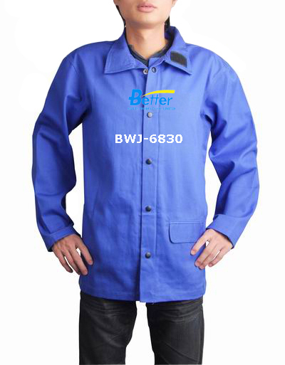 BWJ-6830-Excellent Royal Blue FR (Flame Retardant) Welding Jacket