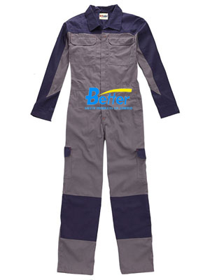BFRC107 - 100% Gray FR cotton Fire Retardant Coverall, Safety Coverall