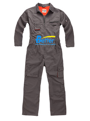 BFRC108 - 100% Gray FR cotton Fire Retardant Coverall, Safety Coverall