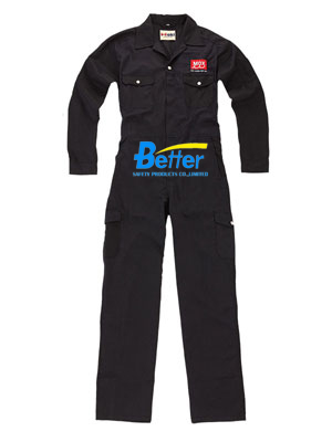 BFRC109 - Black Meta Aramid Fire Retardant Coverall, Safety Coverall