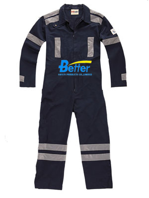 BFRC111-FR Cotton Fire Retardant Coverall with Reflective Tapes,Safety Coverall