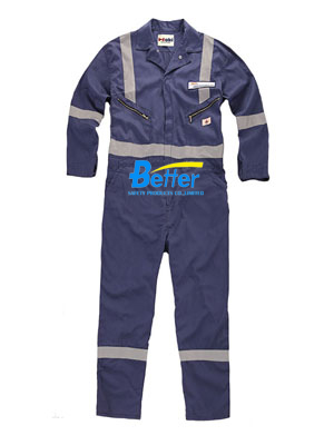 BFRC114 - FR Cotton Fire Retardant Coverall with Reflective Tap, Safety Coverall