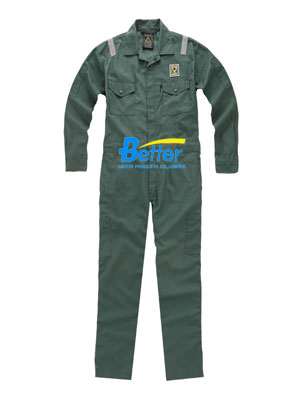 BFRC112 - FR Cotton Fire Retardant Coverall with Reflective Tapes