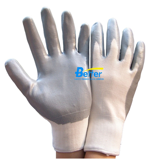 Economy Flexible Nitrile Soomth Dipped Working Gloves(BGNC301P)